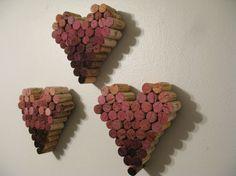 Wine Cork Heart Wall Hangings