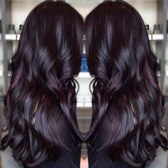 "49 Likes, 3 Comments - RedBloom Salon (@redbloomsalon) on Instagram: ""Gorgeous dark #violet color on this long haired beauty! Hair by Claire @clairenotbutter"""
