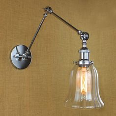 68.00$  Buy here - http://alin2k.worldwells.pw/go.php?t=32691560618 - Chrome Loft Style Vintage Wall Lamp Vintage Fixtures Cafe Room Long Arm Retro Wall Light Sconce Lampen Arandela Apliques Pared