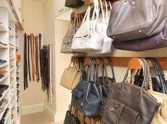 Gentil How To Organize Your Pocketbook...by Using A Curtain Rod And Shower Curtain  Hooks, Who Knew?! Compliments Of Yours Truly...me:)   DIY   Pinterest    Shower ...