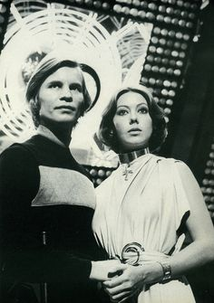 "Michael York & Jenny Agutter (Logan 5 & Jessica 6) - ""Logan's Run."". She was one of the council in new avengers movie!"
