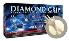 Microflex Large Natural Diamond Grip mil Latex Ambidextrous Non-Sterile Medical Grade Powder-Free Disposable Gloves With Textured Finger Tip Finish And Standard Examination Beaded Cuff Each Per Box) Disposable Plates, Latex Gloves, Work Gloves, Household Cleaners, Coffee Love, Wet And Dry, Health And Safety, It Is Finished, Cleaning