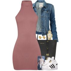 A fashion look from April 2016 featuring Fat Face jackets, adidas sneakers and Michael Kors tote bags. Browse and shop related looks.