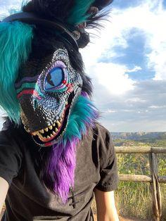 Raptor Dinosaur, Dinosaur Mask, Fursuit Tutorial, Mask Ideas, Raptors, Secret Obsession, Types Of Art, Furry Art, Glitch