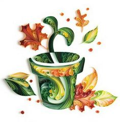 Vase paper art