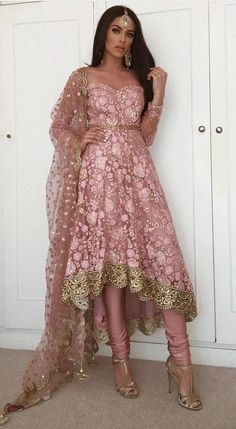 52 Indian Outfits Ideas That Trend in 2019 Eid Outfits, Pakistani Outfits, Bridal Outfits, Dress Outfits, Dress Shoes, Pakistani Fashion Casual, Shoes Heels, Fashion Outfits, Indian Fashion Dresses