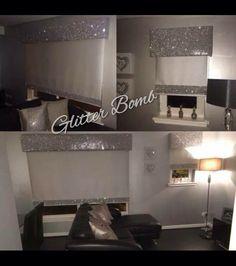 Glitter pelmet/blind - living room