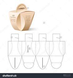 Retail Box With Blueprint Template Stok Vektör İllüstrasyonu 379169398 : Shutterstock