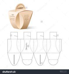 Retail Box With Blueprint Template Stok Vektör İllüstrasyonu 379169398 : Shutterstock Diy Gift Box, Paper Gift Box, Diy Box, Paper Gifts, Diy Gifts, Box Packaging, Packaging Design, Paper Box Template, Printable Box