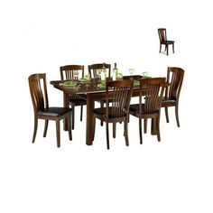 Dining Room Furniture Set Table 6 Chairs Wood Extendable High Back Kitchen Large in Home, Furniture & DIY, Furniture, Table & Chair Sets | eBay