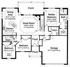 1st Floor Plan image of Shadowglen Heated Area: 1,681 Sq. Ft. Lower Floor: 1,681 Sq. Ft. Width: 56 Ft. 6 In.    Depth: 53 Ft. 2 In. Bedrooms: 3           Bath: 2 Garage: 2 Foundation: Crawl Space, Slab, Walkout - See more at: http://www.thehousedesigners.com/plan/shadowglen-9043/#sthash.aBIOPBjY.dpuf