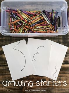 Google Eye Drawing Starters via Wait 'Til Your Father Gets Home & Learn365 for #OrientalTrading #summerlearning #kidscrafts #kidart #coloring #sp