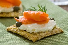 Smoked Salmon & Cream Cheese Toppers