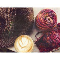 The Lavender Latte Editions: #trois avec @anexceptiontotherules   @midnightglowdesigns #mossandbark #knittingvisionary #lavenderlatteeditions #greatlakescoffee #Padgram