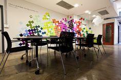 'The Space' meeting room, branded environment by Joel Spencer Design. Source: www.joelspencerdesign.com