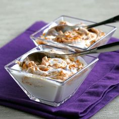 Yogurt With Pumpkin Swirl - Gluten free - Extremely healthy and delicious sugar-free, low-carb breakfast or dessert.