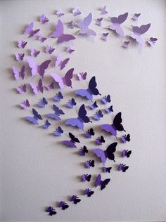 Items similar to Ombre Purple Butterfly Art or YOUR Ombre Choice or Choice of Any Colours. Home Decor, Nursery Decor. Made to Order on Etsy Ombre Purple Butterfly Art or YOUR by aboundingtreasures Butterfly Wall Art, Paper Butterflies, Butterfly Crafts, Paper Flowers, Butterfly Colors, Origami Butterfly, Butterfly Template, Paper Wall Art, Diy Wall Art