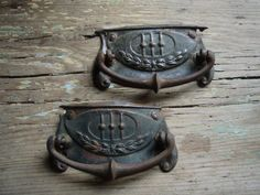 Two Rustic Vintage Drawer #Handles by #alittlebitdusty on Etsy, $6.00