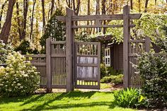 Japanese Style Gate Japanese Pergola, Japanese Gate, Japanese Style, Fence Design, Garden Design, Garden Projects, Garden Ideas, Japanese Architecture, Landscape Architecture