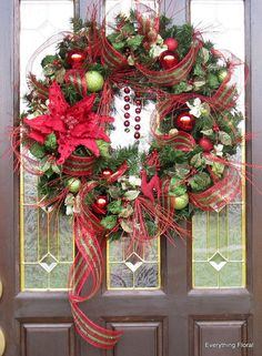 CHRISTMAS LARGE WREATH Christmas Décor Holiday by EverythingFloral, $95.00