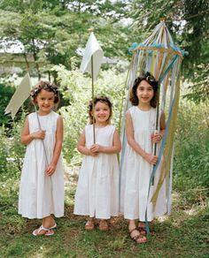 Ambiance~  Flower girls with Maypoles~  (from Martha Stewart)  (410) 819-0046  www.maryannjudy.com