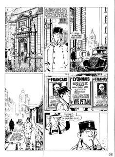 Tardi - Nestor Burma - 120 rue de la gare par Jacques Tardi - Planche originale