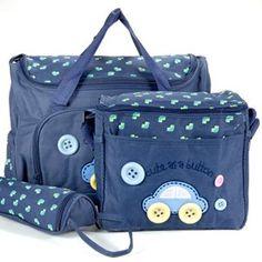 #bebes Set 4 kits Bolso/Bolsa/Bolsillo Maternal azul oscuro biberón carrito carro