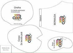 Moldes para feltro gratis - Como Fazer Moldes Para Baby Shower, Felt Toys, Softies, Felt Crafts, Art Dolls, Elephant, Artisan, Diagram, Sewing