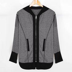 2e03e690a Dresswel Women Zip Front Pocket Colorblock Hooded Coat $23.99 #dresswel # women #coat