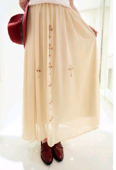 Criss Cross Pleated Maxi Skirt
