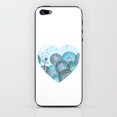 DANDELION HEART iPhone & iPod Skin by VINSPIRO - $15.00