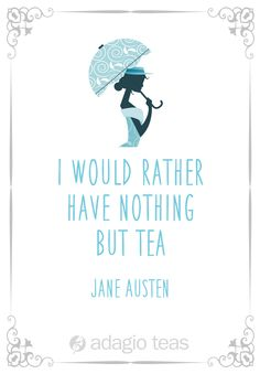 A widely read English author had this to say about the importance of tea in her life.