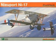 The Eduard Nieuport Ni-17 in 1/48 scale from the plastic aircraft model range accurately recreates the real life French biplane fighter aircraft flown during World War II. This plastic aircraft kit requires paint and glue to complete.
