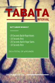 Tabata Battlerope Workout