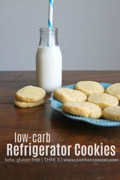 Everyone needs a good, low-carb refrigerator cookie they can dunk or decorate! These ones stay together well and are a cinch to make! Keto & THM-friendly.