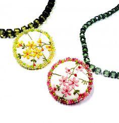 Upcycling vintage linens with Miyuki Beads and Klik Pendants