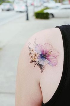 Flower tattoo by Banul
