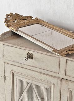 18th Century Gustavian Mirror by Spegelmaker Anders Malmqvist For Sale at 1stdibs