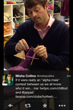 oh, misha... :) as much as i love him, jared is definitely more an alpha male than misha is.