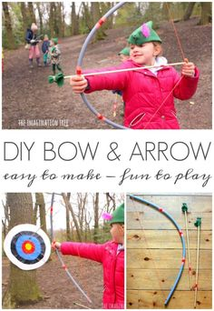 DIY bow and arrow for play and party favors!