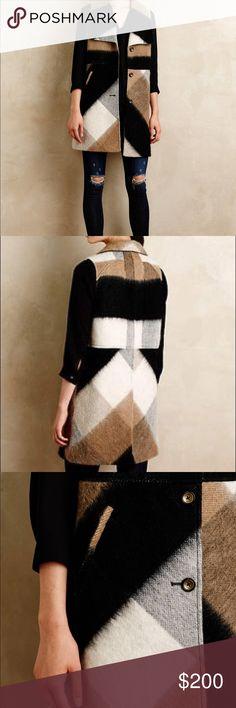 Elevenses Buffalo Plaid Coat Vest Brand new. Worn once. Anthropologie Jackets & Coats Vests