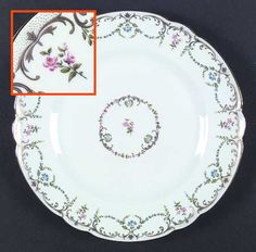 """""""Symphonia"""" china pattern with scalloped floral trim from Chas Field Haviland."""