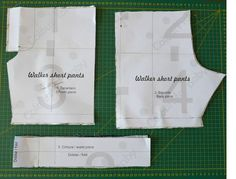 Cómo hacer un pantalón corto de niño, patrón gratis Baby Clothes Patterns, Clothing Patterns, Short Niña, Baby Bloomers, Back Pieces, Chor, Fashion Sewing, Sewing Hacks, Mens Suits