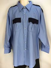NEW Police Security Uniform Costume Shirt Long Sleeve Flying Cross Men 19 34