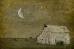 'Sleep Tight' - by Jamie Heldon - (night sky, stars, moon, art, illustrations)