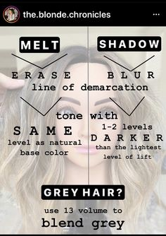 How To Bayalage Hair, Redken Shades, Color Melting, Hair Painting, Grey Hair, Color Correction, Hairstyles Haircuts, Cosmetology, Hair Makeup
