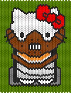 Hannibal Lecter Hello Kitty bead pattern