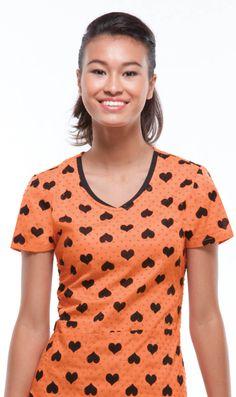 V-neck topin HEART 2 FORGET YOU Orange Pop