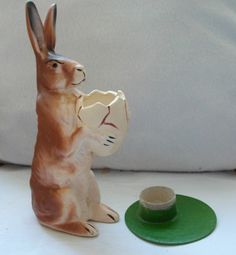 RARE and Beautiful Papermachee Rabbit Candy Container from Germany | eBay