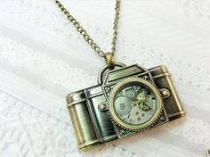 cute little camera necklace